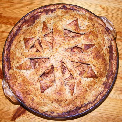Apple Pie with a decorative top crust -- recipe by Sienna M Potts